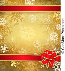 Golden Christmas background - Christmas background with...