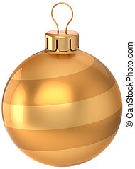 Golden Christmas ball decoration - Christmas ball decoration...