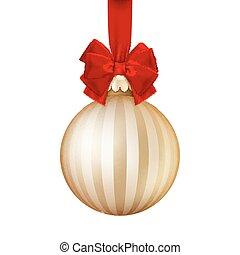 Golden Christmas ball. EPS 10