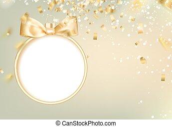 Golden christmas ball.