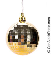 Golden christmas ball.