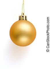 Golden Christmas Ball