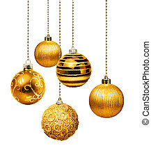 Golden Christmas balls