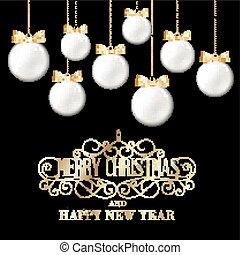 Golden christmas balls.
