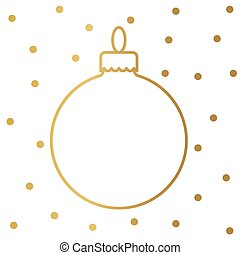 golden christmas baubble- vector illustration