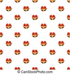Christmas bells with red bow pattern