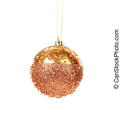 Golden christmas decoration ball.