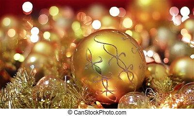 Golden Christmas Decoration Lights - Golden Christmas...