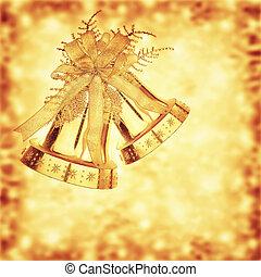 Golden Christmas jingle bells - Golden jingle belsl, ...