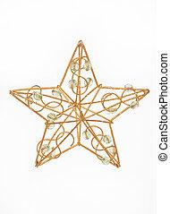 golden christmas star - goldener weihnachtsstern - golden...