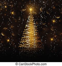 golden christmas tree background 2311
