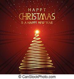 golden christmas tree background 3009