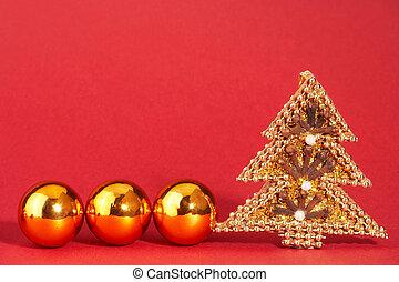 golden christmas tree with pearls - goldener Weihnachtsbaum...