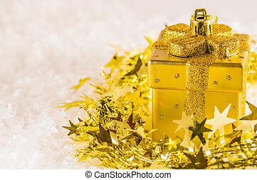 Golden chtistmas decoration