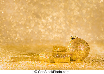 Golden chtistmas decorations