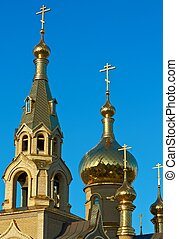 golden church domes