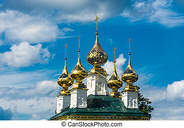 Golden Church domes.