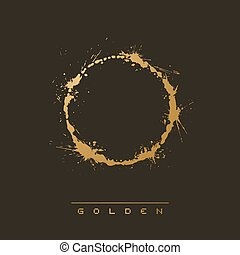 Golden circle art