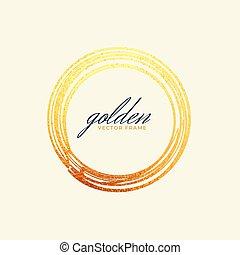 golden circle frame design banner