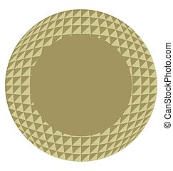 golden circle geometric frame