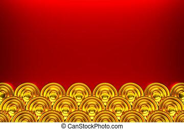 Golden circle pattern.