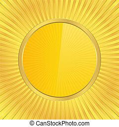 Golden circle, vector illustration