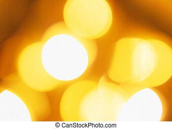 Golden city bokeh lights