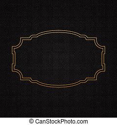 Golden classic frame