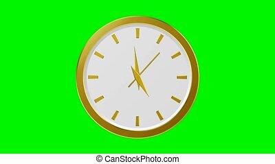Golden Clock - 60 Seconds (green background)