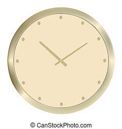 Golden clock. Vector illustration