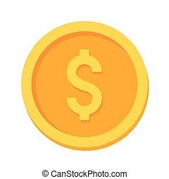 golden coin design