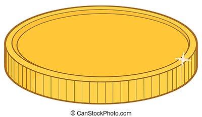 Golden Coin Illustration