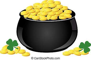 golden coin pot