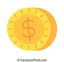 golden coin representation