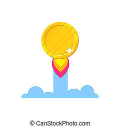 Golden coin starting icon