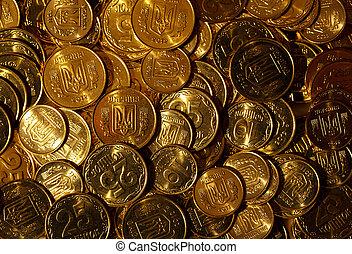 Golden coins of Ukraine