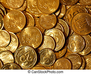 Golden coins of Ukraine