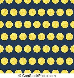 Golden coins seamless pattern
