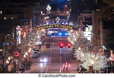 Golden Colorado Main Street. Welcome in Golden Colorado. The...