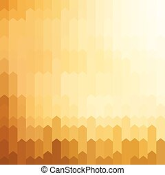 Golden colored arrow pattern background