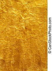 Painted Crinkled Paper - Golden Colour Painted Crinkled ...