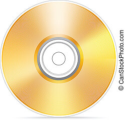 Golden compact disc vector illustration