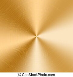 Golden cone gradient - Conical gradient with a texture of...