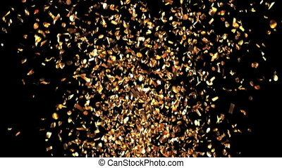 Golden Confetti Party Popper Explosion
