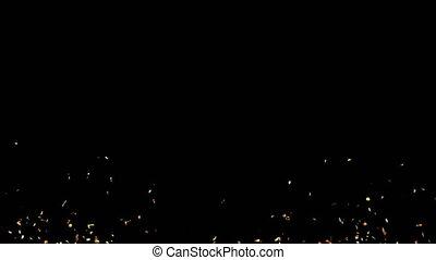 Golden Confetti Party Popper Explosions