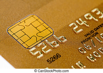 golden credit card - a gold credit card. symbolic photo for ...