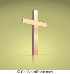 Golden cross, symbol of the Christian