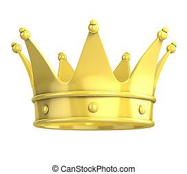 golden crown 3d illustration