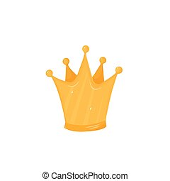 Golden Crown isolated vector illustration on white background