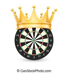 Golden crown on Dart Board